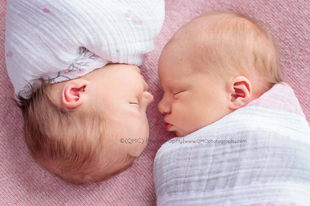 Calgary Alberta Newborn Twin Multiple Photographer 1936 Sweet Little Ladies | Calgary Alberta Newborn Photographer
